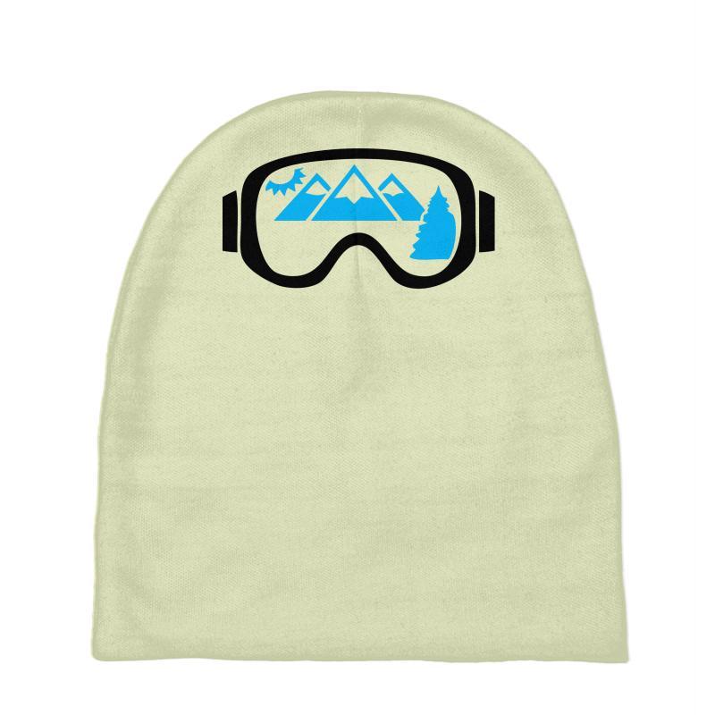 f68ac42b41503 Custom Ski Goggles Mountains Baby Beanies By Chilistore - Artistshot