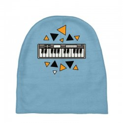 music,keyboard,electronic,piano,triangle,reflections,cute,vectorart, Baby Beanies | Artistshot