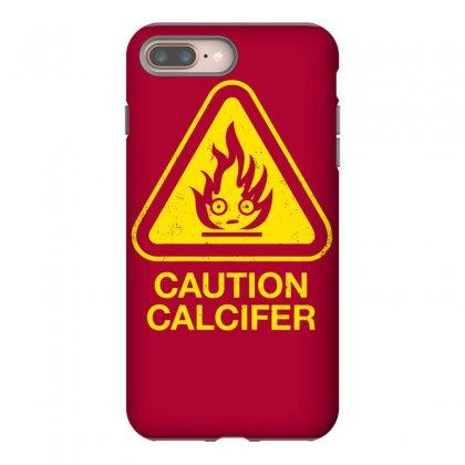 Caution Calcifer Iphone 8 Plus Case Designed By Specstore
