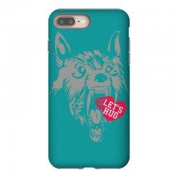 screaming wolf love you iPhone 8 Plus Case | Artistshot