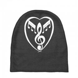 music heart Baby Beanies   Artistshot