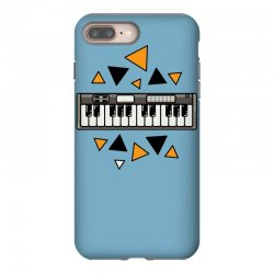 music,keyboard,electronic,piano,triangle,reflections,cute,vectorart, iPhone 8 Plus Case | Artistshot