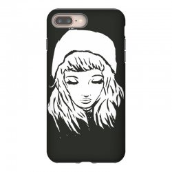 beanie hat eyes closed iPhone 8 Plus | Artistshot