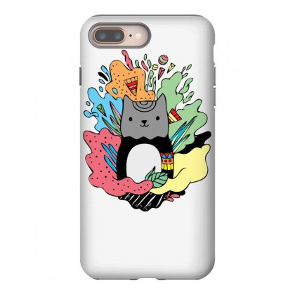 Abstracat Iphone 8 Plus Case Designed By Specstore