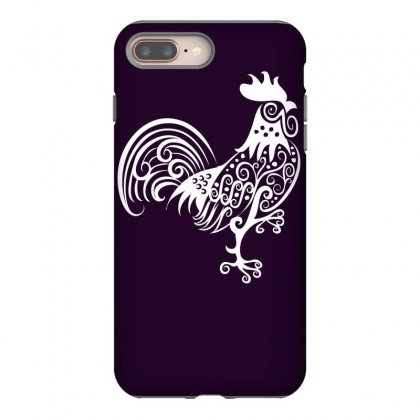 Rooster Pattern Ornament Iphone 8 Plus Case Designed By Specstore