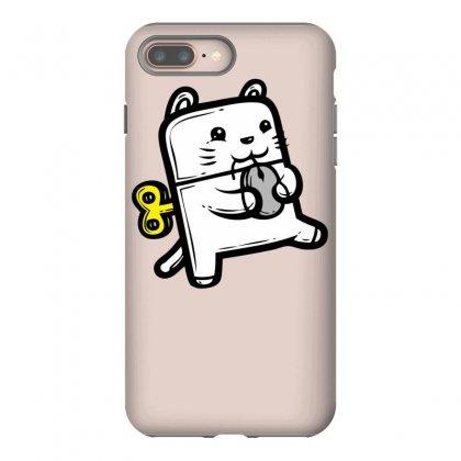 Robo Cat Iphone 8 Plus Case Designed By Specstore