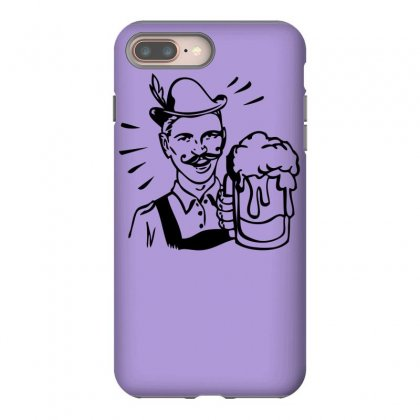 Retro Guy With Beer Iphone 8 Plus Case Designed By Specstore