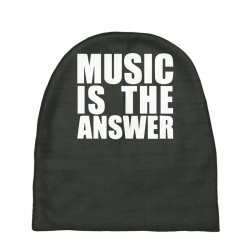 music is the answer printed Baby Beanies | Artistshot