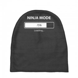 ninja mode loading Baby Beanies   Artistshot