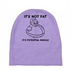 it's not fat, it's potential muscle Baby Beanies | Artistshot