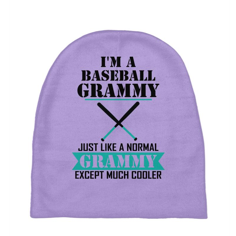 1c2568d0 I'M A Baseball Grammy Just Like A Normal Grammy Except Much Cooler Baby  Beanies