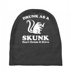 drunk as a skunk Baby Beanies | Artistshot