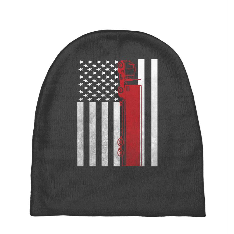 Custom Truck Driver Trucker - America Usa Flag T-shirt Baby Beanies ... e0bb6de6b74a