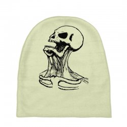 screaming skull Baby Beanies | Artistshot