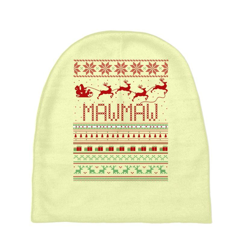 6f11de7403465 Custom Mawmaw Ugly Christmas Sweater Xmas Baby Beanies By Rardesign ...