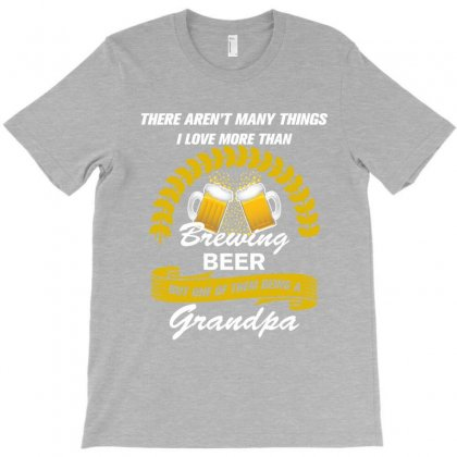 This Grandpa Loves Brewing Beer T-shirt Designed By Rardesign