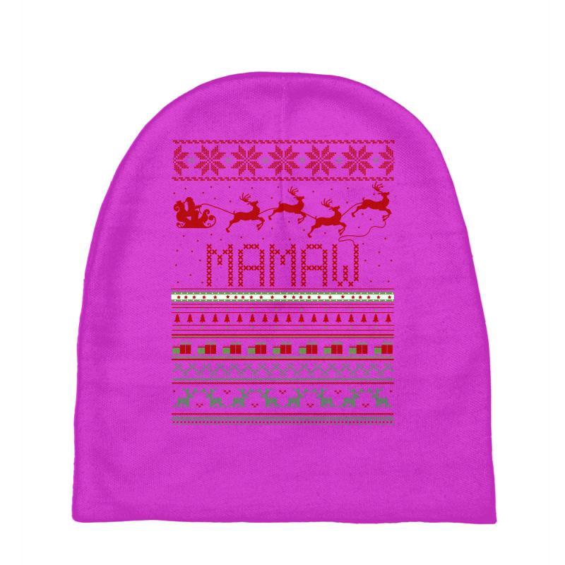 a1d30e5cb021f Custom Mamaw Ugly Christmas Sweater Xmas Baby Beanies By Rardesign ...