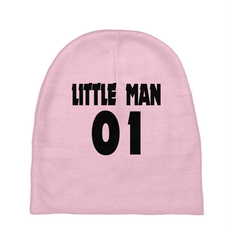 5a2ba72f7c64e Custom Big Man Little Man Father Son Matching2 Baby Beanies By ...