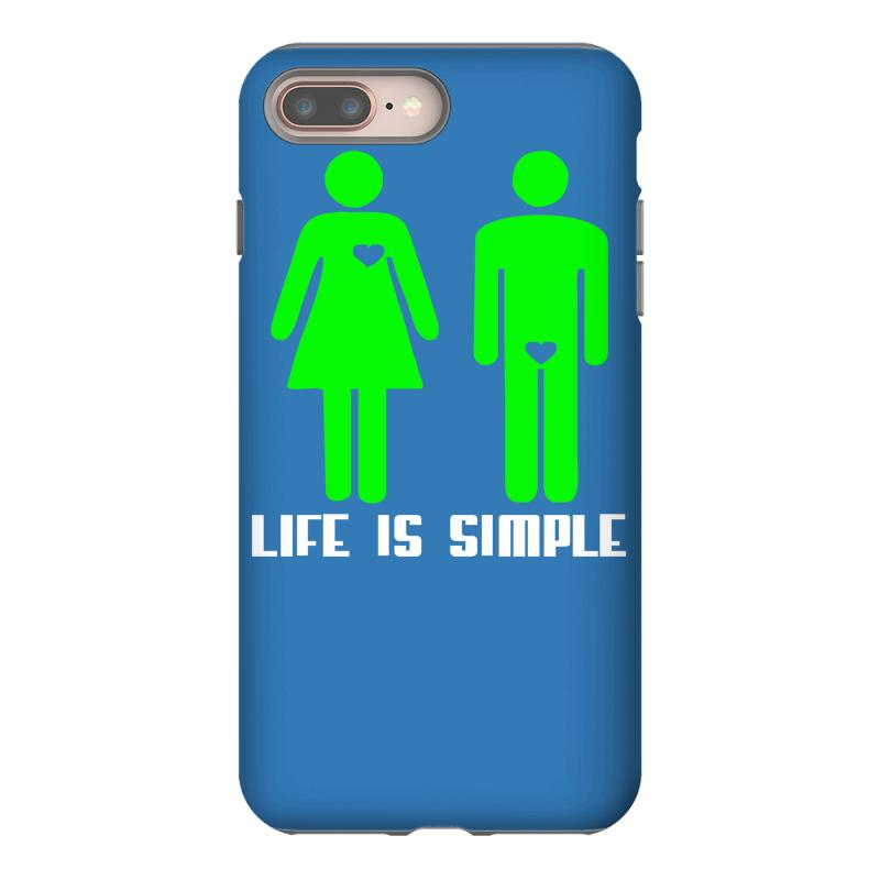the best attitude 622b2 3c3e3 Life Is Simple Funny Iphone 8 Plus Case. By Artistshot