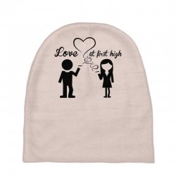 love at first high Baby Beanies   Artistshot