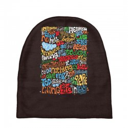 funny john lennon imagine quote Baby Beanies | Artistshot