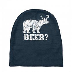 funny beer bear Baby Beanies | Artistshot