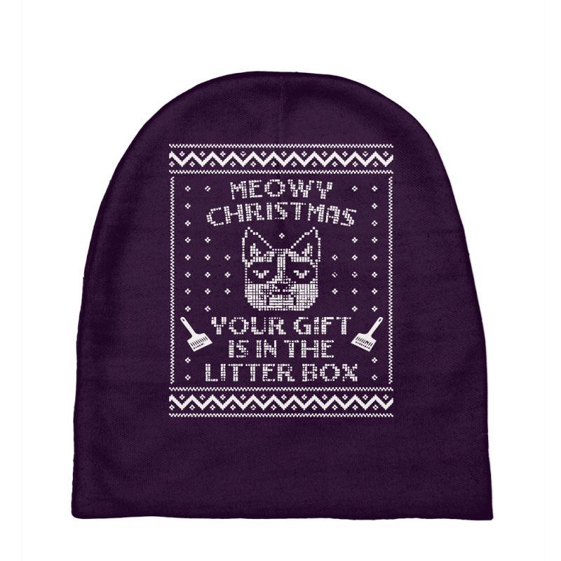 Grumpy Cat Ugly Christmas Sweater.Grumpy Cat Ugly Christmas Sweater Baby Beanies By Artistshot