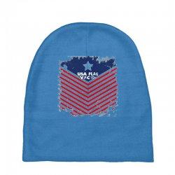 USA Flag Vector Baby Beanies | Artistshot