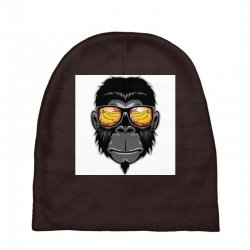 Monkey Cool Baby Beanies | Artistshot