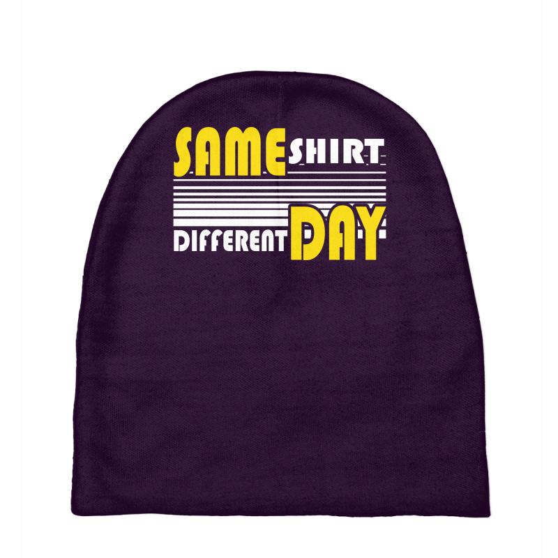 Custom Same Shirt Different Day Baby Beanies By Mdk Art - Artistshot 8ec7a8e0c0f