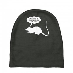 rat funny geek nerd scientific experiments are fun Baby Beanies | Artistshot