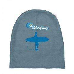 the surfing Baby Beanies | Artistshot