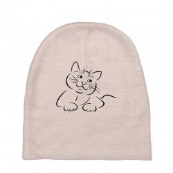 the cat simple Baby Beanies | Artistshot