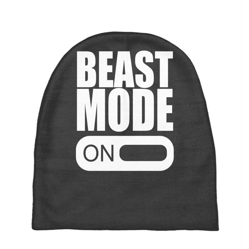 8d830119c98 Custom Beast Mode On Baby Beanies By Mdk Art - Artistshot