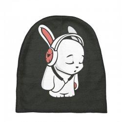 love music cartoon bunny Baby Beanies | Artistshot
