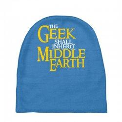 geek shall inherit middle earth Baby Beanies   Artistshot