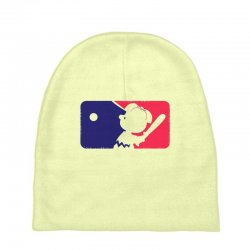 Peanuts League Baseball Baby Beanies | Artistshot