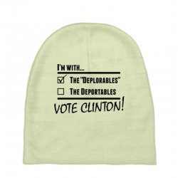 Hilary Clinton Deplorables Baby Beanies | Artistshot