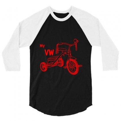 My Vw Bike 3/4 Sleeve Shirt Designed By Rardesign