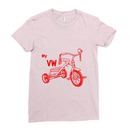 My Vw Bike Ladies Fitted T-shirt Designed By Rardesign