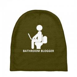 funny bathroom blogger Baby Beanies | Artistshot