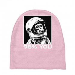 funny monkey astronomy Baby Beanies | Artistshot