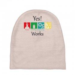 yes work science Baby Beanies   Artistshot
