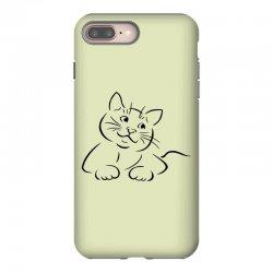 the cat simple iPhone 8 Plus Case | Artistshot