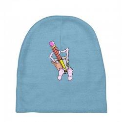 Funny cartoon pencil sharpener Baby Beanies | Artistshot