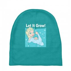 funny gym elsa let it grow frozen fitness Baby Beanies | Artistshot