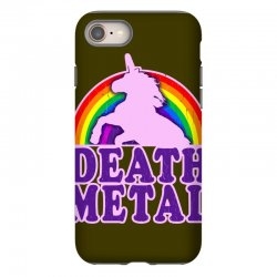 funny death metal unicorn rainbow iPhone 8 Case | Artistshot