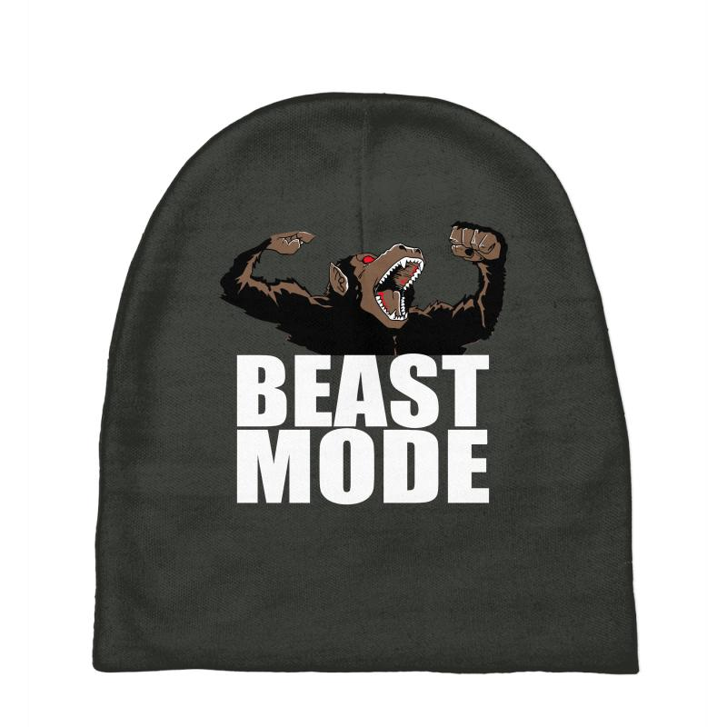 7e19eed2fb4 Custom Beast Mode Baby Beanies By Mdk Art - Artistshot