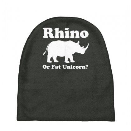 Rhino Or Fat Unicorn Baby Beanies Designed By Gematees