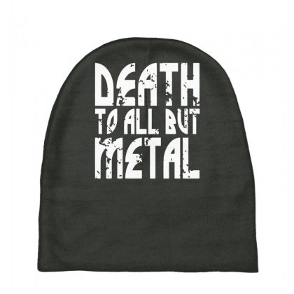 Death To All But Metal Baby Beanies Designed By Gematees